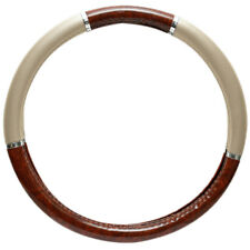 Wood Grain Steering Wheel Cover for Auto Car Truck Van SUV Tan Premium Protector