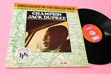 CHAMPION JACK DUPREE LP LEGACY .. TOP JAZZ BLUES SONET LABEL ! EX