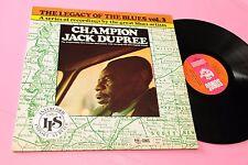 CHAMPION JACK DUPREE LP LEGACY .. TOP JAZZ BLUES SONET LABEL ! EX