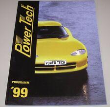 Auto folleto Power Tech programa llantas de aluminio deportiva accesorios escape 1999
