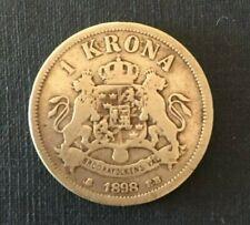1898 Silver 7.35 grams  25mm , 1 Krona Oscar II Sveriges Och Norges Konung