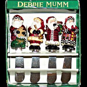 Debbie Mumm Old World Santa Claus Cheese Jam Spreader Knives 4 Different Designs