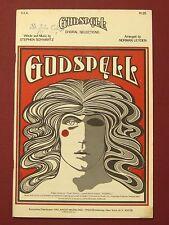 VTG 1972 GODSPELL Choral Selections Music Book -Stephen Schwartz/Norman Leyden