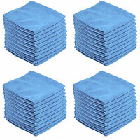 20 x BLUE CAR CLEANING DETAILING MICROFIBER SOFT POLISH CLOTHS TOWELS LINT FREE