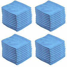 20 x BLUE CAR CLEANING DETAILING MICROFIBER SOFT POLISH CLOTHS TOWELS LINT FREE