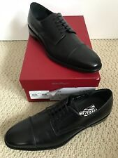 NIB Salvatore Ferragamo Mabel Black Leather Lace Up Oxford Dress Shoes 10 D $795