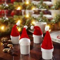 10* Mini Santa Claus Christmas Hats Party Xmas Holiday Lollipop Decor 2019Hot