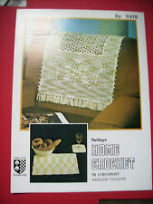 Vintage Chair Back Cover & Place/Glass Mats Crochet Pattern Twilleys