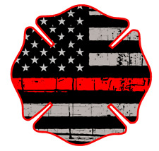 "Fire Deparment Logo (T24) USA 4"" Firefighter Vinyl Decal Sticker Car Window"