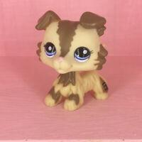 LPS Collie Dog #2210 Cream Hasbro Littlest Pet Shop Tan Puppy Figure Toys Gift