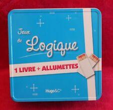 Boite métallique à Jeux de logique : 1 livre + des allumettes - occasion complet