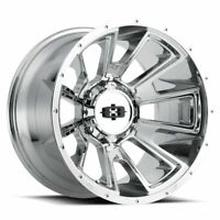"20"" Vision Off Road Rebel 20x9 Chrome 6x135 6x5.5 Lifted Truck Wheel -12mm Rim"