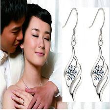 Crystal  Platinum Plated Female Drop Errings Angel Feather Earrings