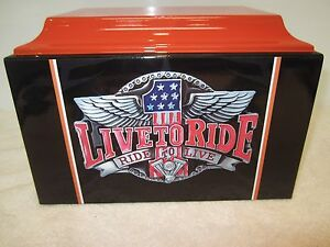 316 FRP Live to Ride Biker Funeral Adult Cremation Urn