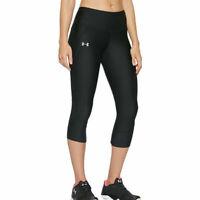 Under Armour UA HeatGear Ladies Capri Fly Fast Black Sports Running Leggings XS