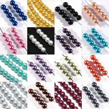 Lot de 100 Perles en Verre Nacrées 4mm pour Création de Bijoux Couleur aux choix