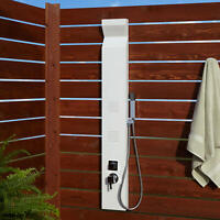 Signature Hardware 400734 Richardson Thermostatic Outdoor Shower - White