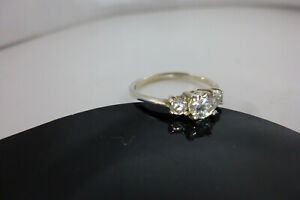 Sterling silver 925 CZ ring size O