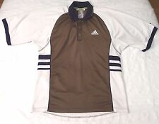 Adidas Equipment polo shirt men sz S vintage 90s olive/white/navy tennis rugby