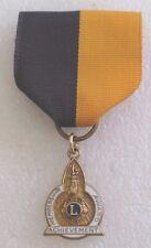 Vintage Lions International Club Membership Achievement Award Badge Medal Pin