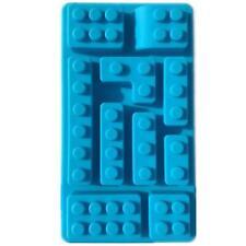 10 Blue Lego Blocks Silicone Mould Mold Chocolate Cake Ice Jelly Tray UK