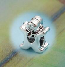 AUTHENTIC 😍 PANDORA 😍 silver CHARM bead sweet Gingerbread man Christmas 792002