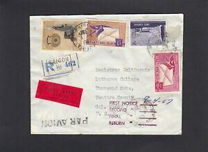 Vietnam 1967 Air Mail  cover SC#C13,C14,etc, Saigon to USA
