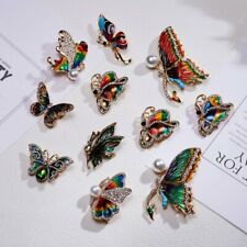 Fashion Wedding Rhinestone Crystal Insect Butterfly Brooch Pin Womens Jewelry