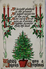 Christmas Tree Holiday Greetings Tuck & Sons 1912 Vintage Antique Postcard