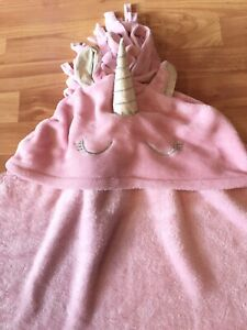 Love Justice Teen Girls One Size OS Pink Plush Wearable Unicorn Blanket
