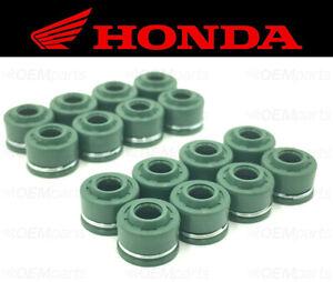 Set of (16) Intake & Exhaust Valve Stem Seals Honda (See Fitment Chart)