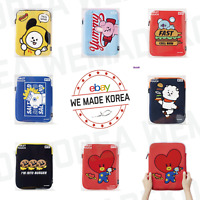"BT21 Character Bite Boucle Tablet Pouch Cover for 10"" Authentic K-POP Goods"