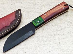 Elegant Custom hand Forged D2 Tool Steel Powder Coated Fixed Blade Knife WD-7182