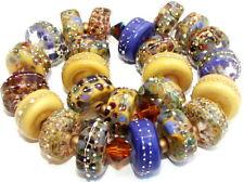 "Sistersbeads ""F-Stoneground"" Handmade Lampwork Beads"