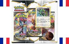 Tripack 3 Booster Pokémon Epée & Bouclier Clash des Rebelles Rayquaza VF scellé