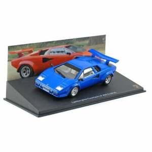 NEW - Lamborghini Countach LP 400 S 1978 blue - 1:43 Scale Diecast Model Car