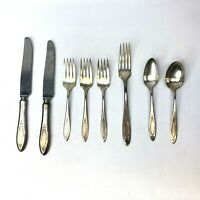 Community Plate Silverware Flatware Knives Forks Spoons Lot of 8