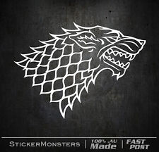 GOT GAME OF THRONES HOUSE STARK 170mmW Sticker Decal Car Wall Wolf