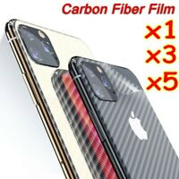 Lots Carbon Fiber Back Cover Film Sticker Screen Protector For iPhone 11 Pro Max