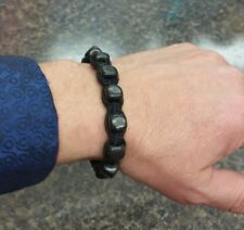 SHUNGITE 8 INCH BRACLET MAGIC RUSSIAN HEALING STONE POSSIBLE EMF PROTECTION C60