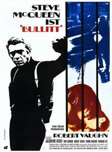 Steve McQueen BULLITT original vintage 1 sheet movie poster rolled R1968