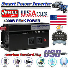 US Portable Car Power Inverter WATT DC 12V to AC 110V Charger Converter for Cars