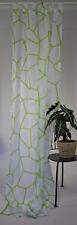 Schlaufenschal Vorhang Gardine Store Voile Abstrakt Modern 140/245 cm Weiß/Grün