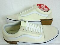 Vans Mens Old Skool Gum Block Classic White Canvas Suede shoes Size 8.5 NWT
