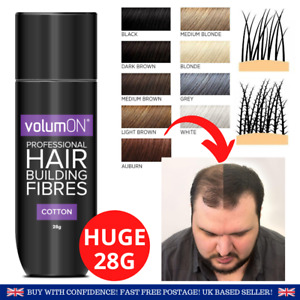 **HAIR FIBRES | Volumon Cotton Hair Thickener Powder & Beard Filler Men Women**