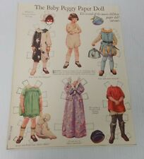 June 1925 THE BABY PEGGY PAPER DOLL Cut-Outs Frances Tipton Hunter #2 Movie Kids