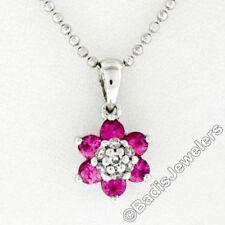Collane e pendagli di lusso con gemme rose tondi in pietra principale zaffiro