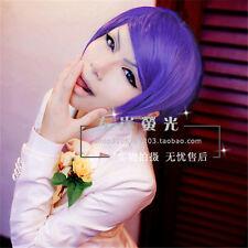 Tokyo Ghoul Kamishiro Shu Tsukiyama Purple Hair Short Cosplay Party Wig+Wig Cap