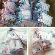 BABY SHOWER & CHRISTENING  x6 organza filled favour bags
