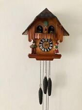 More details for vintage hand made wooden regula musical dancers wheel cuckoo clock germany